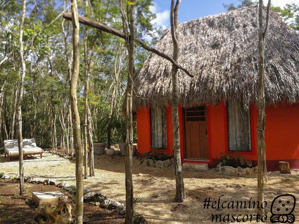 Cabañas del cenote Secreto Maya