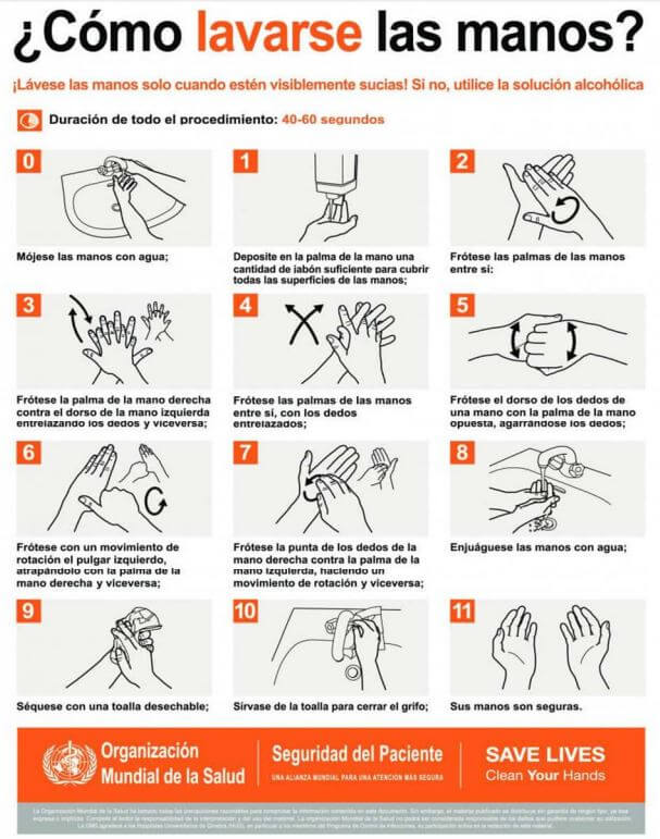 mexico turismo covid-19 lavar manos