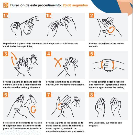 lavarse manos gel antibacterial