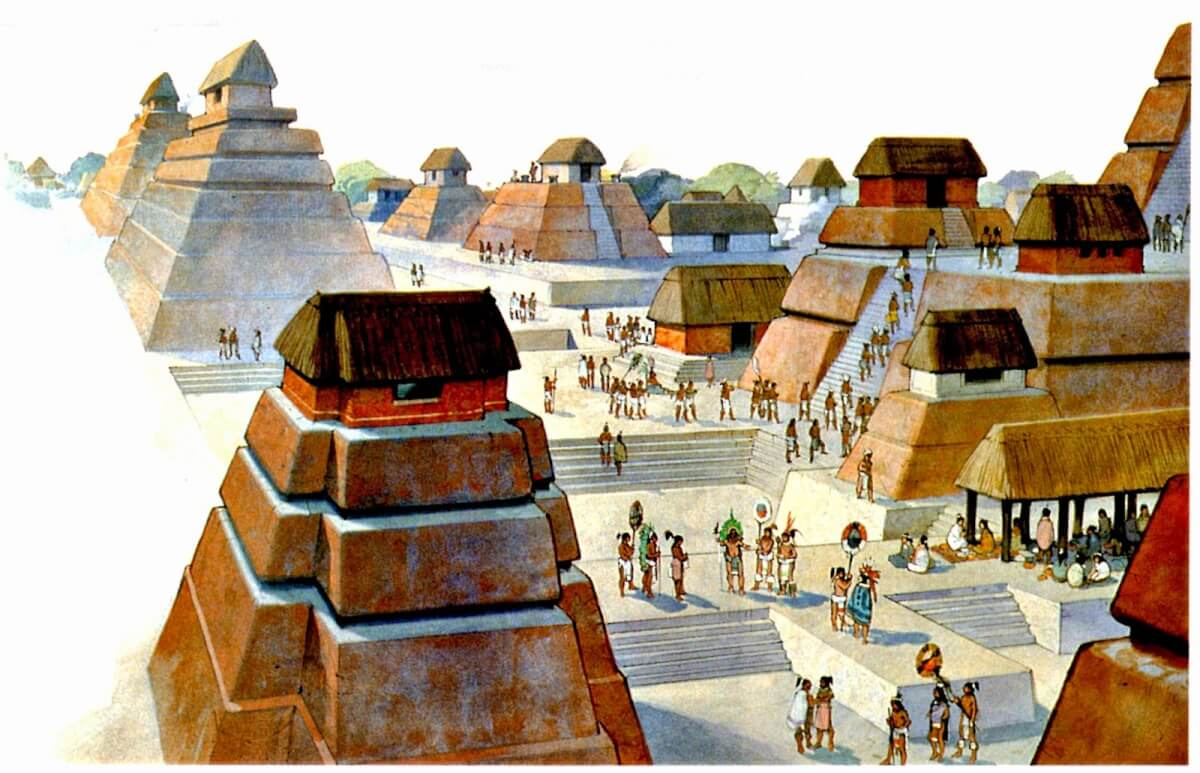 What were the ancient Mayan cities like?