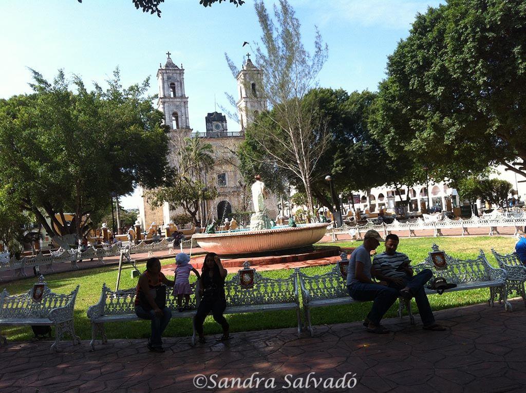 Parque Central, que hacer en  Valladolid, Yucatán, México.