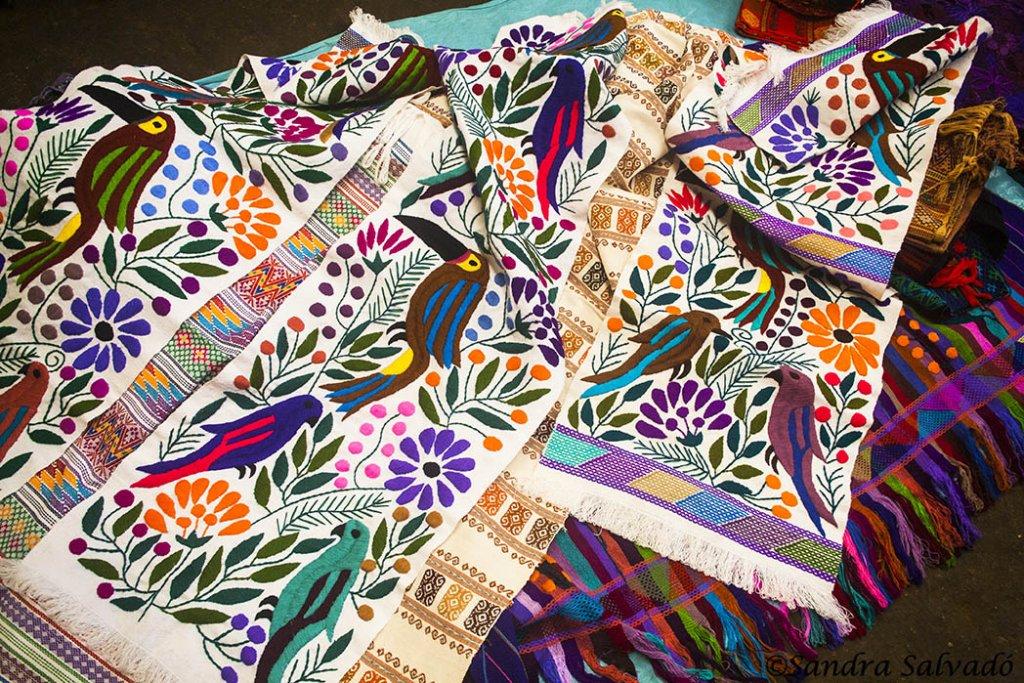 Tzotzil Mayan fabrics in Zinacantan